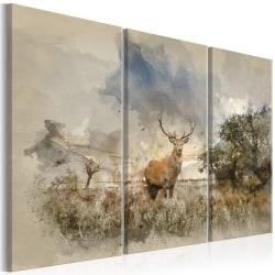 Tavla - Deer in the Field I Size: 120x80