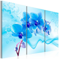 Tavla - Ethereal orchid - blue Size: 60x40