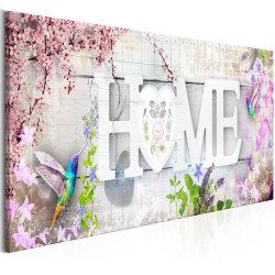 Tavla - Home and Hummingbirds (1 Part) Pink Narrow Size: 135x45
