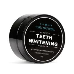 100% Naturlig Tandblekning - Teeth Whitening Charcoal (30 g) Black
