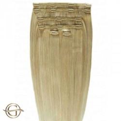 Gold24 Clip-on Hair Extensions #27 Mellanblond 60cm - 7 delar