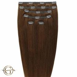Gold24 Clip-on Hair Extensions #6 Ljusbrun 50cm - 7 delar