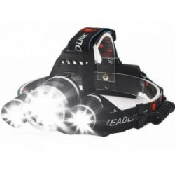 LED Pannlampa 5000 LM T6 Cree Svart