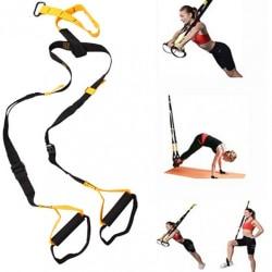 PRO Suspension Trainer Multitrainer Gymband / Träningsrep  Svart