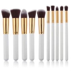 PRO Makeupborstar White Silver - 10 st Vit