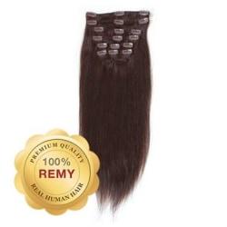 Remy Clip-on Löshår #2 Mörkbrun 40 cm