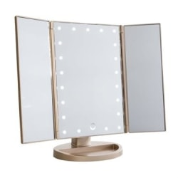UNIQ LED Trifold Hollywood Makeup Spegel - RoseGold Rosa guld