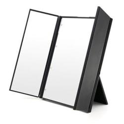 UNIQ® LED Trifold Vanity Makeup Spegel - Svart Svart