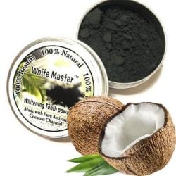 White Master® Coco Coal Teeth Whitening - Naturlig Tandblekning Svart