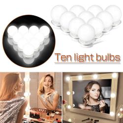 10 LED Bulbs Hollywood Mirror Lights Makeup 10 Lights 5V7W