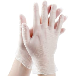 100pcs Disposable Comfy Powder Free PVC Gloves M 100pcs