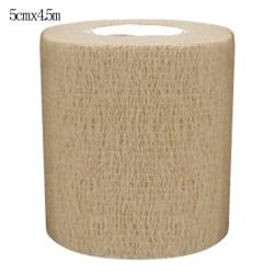 12 Pcs Sports Pet Vet Wrap Self-Adherent Bandages Nude 5cm*4.5m