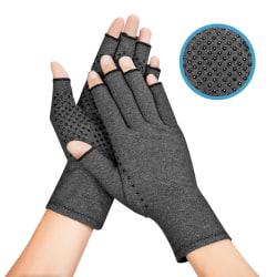 2PCS Copper Arthritis Compression Gloves Grey M