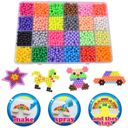 3200 PCS Aquabeads Water Fuse Beads Packing Sticky Fuse Beads