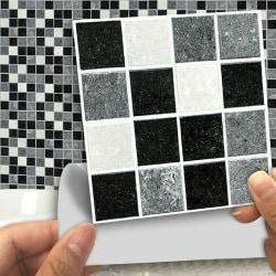 3D DIY Mosaic Sticker Kitchen Tile Stickers Bathroom Wall Decor 18 pcs