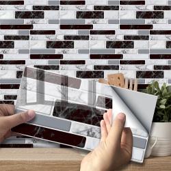 3D Self Adhesive Mosaic Tile Sticker Wall Stickers 9 pcs