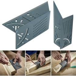 3D Wood Working Measure Gauge Ruler Grey