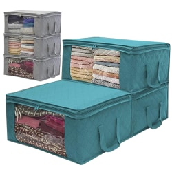 1PCS Underbed Clothes Storage Boxes Blue