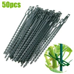 Återanvändningsbar trädgårdsväxt Flexibel plast Starkt stödband 50 PCS
