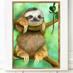 5D Cute Sloth DIY Full Drill Diamond Painting Craft Kits Sloth 40*30cm