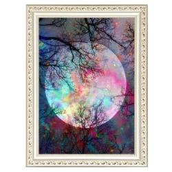 5D Diamond Painting Moon Cross Stitch Masonry Sticker Colourful 30*40cm