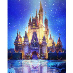 5D DIY diamantmålning Magic Castle