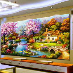 5D DIY Full Drill Diamond Painting Scenery Kit 100 * 40cm