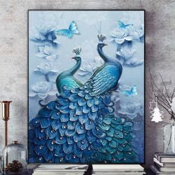 5D Peacock DIY Diamond Painting Craft Art Kit Home Decor Peacock 40*30cm