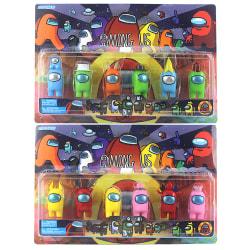 6pcs/Set Among Us Action Figures Collection PVC Dolls Toys Kids