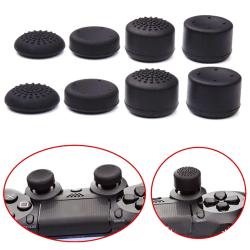 8st svart silikon tummen stick täcka joystick grepp kepsar