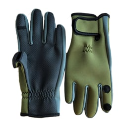 Adult Neoprene Camo Gloves Fishing Hunting Outdoor Shooting Yellow+Green L