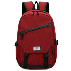 Adults Bags Outdoor Travel Backpack Large-capacity Zipper Red