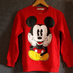 Match-långärmad Mickey-tröja