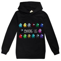 Among us Game Kids Hoodie Sweatshirt for Boys Girls Streetwear Black 160cm