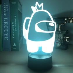Among us nattlampa LED USB-driven sovrumsdekor för barn
