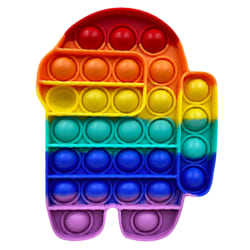 Among Us Pop It Push Bubble Sensory Fidget Toy Multicolor