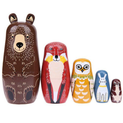Amor Christmas Russian Wooden Matryoshka Nutcracker Wooden