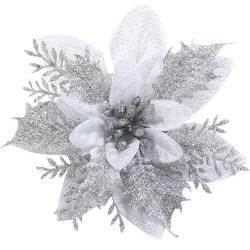 Artificial Christmas Flowers Decorations Xmas Tree Ornaments B 1pcs