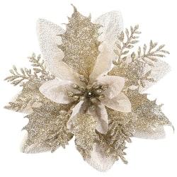10pcs Artificial Christmas Flowers Decor Xmas Tree Ornaments D 10pcs