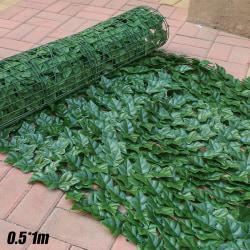 Artificial Garden Hedge Ivy Leaf Fence Roll Wall Green Potato leaf