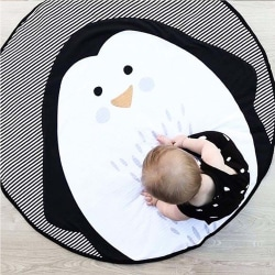 Baby Play Mats Crawling Carpet Round Lace Blanket Penguin