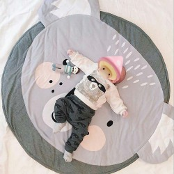 Baby's Kids Cartoon Katt Mat Comfy Crawling Nursery Kudde