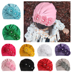 Baby Solid Color Sun Flower With Drill Hat Rose