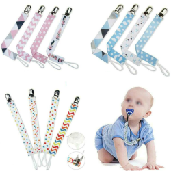 Baby Teething Soother Pacifier Clip Holder 3 4PCS