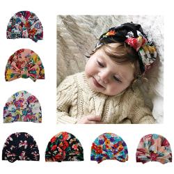 Baby Turban Cotton Print Indian Hat B