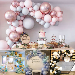 Balloons+Balloon Arch Kit Set Birthday Party Decoration Rose Gold