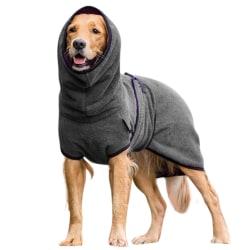 Baotou hund varma kläder vinter valp katt och hund skjorta Dark gray 5XL