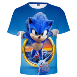 Sonic Hedgehog 3D T-shirt Game Present Kortärmad Toppar Kid Boy