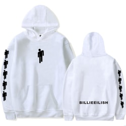 Billie Eilish Unisex Street Wear Hoodies White S
