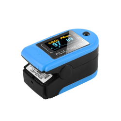 Blood Oxygen Saturation Monitor Fingertip Pulse Oximeter CMS50D Blue